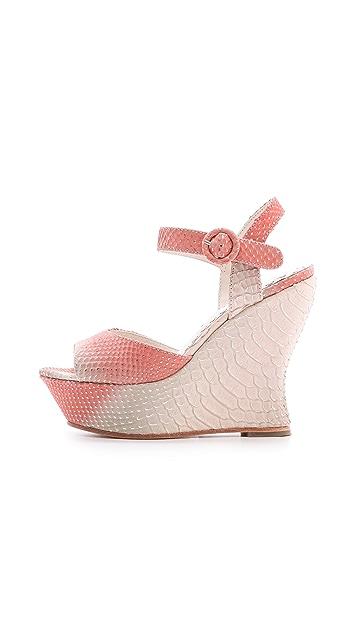 alice + olivia Jana Ombre Wedge Sandals