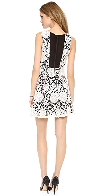 alice + olivia Jolie Sleeveless A Line Dress