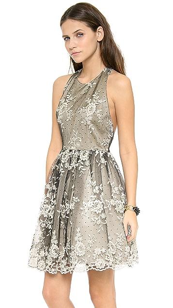 alice + olivia Betrice Halter Party Dress