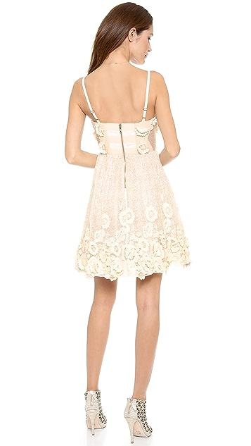 alice + olivia Devorah Spaghetti Strap Bustier Mini Dress