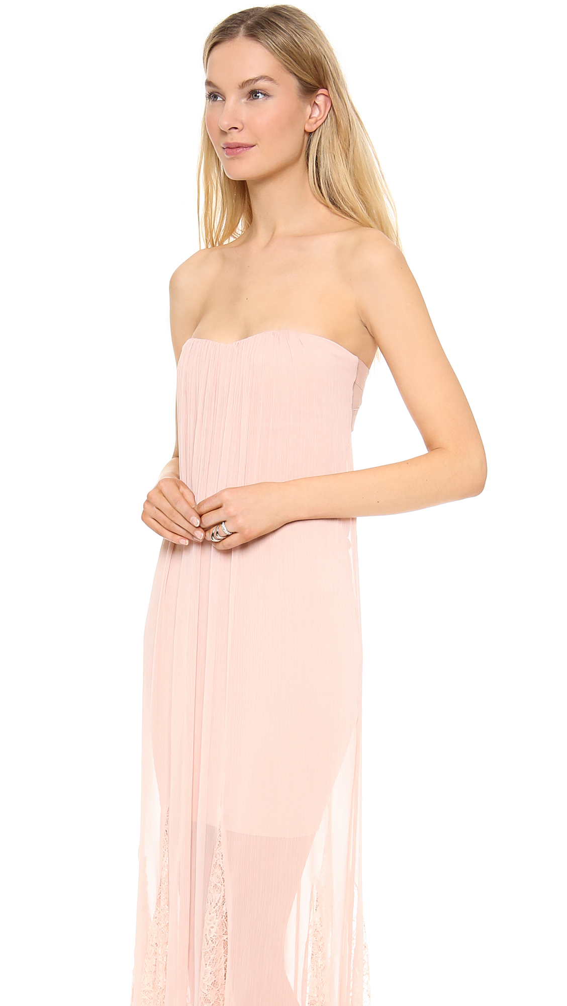 alice   olivia Francesca Strapless Maxi Dress  SHOPBOP