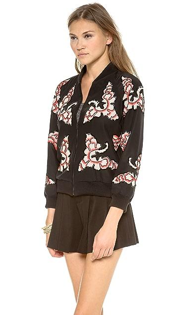 alice + olivia Felisa Embellished Zippered Jacket