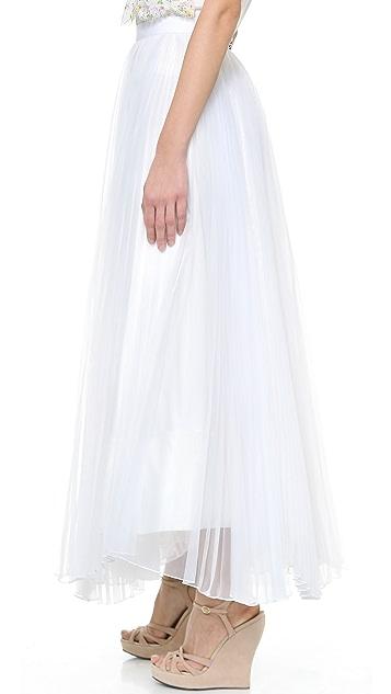 alice + olivia Bethie Pleated Maxi Skirt