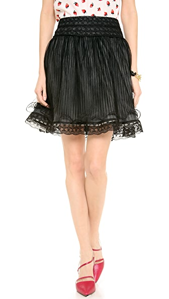 alice + olivia Moriah Lace Tiered Skirt