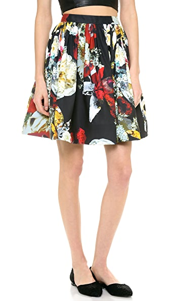 alice + olivia Pia Floral Pouf Skirt