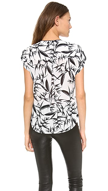 alice + olivia Eugenie V Neck Blouse