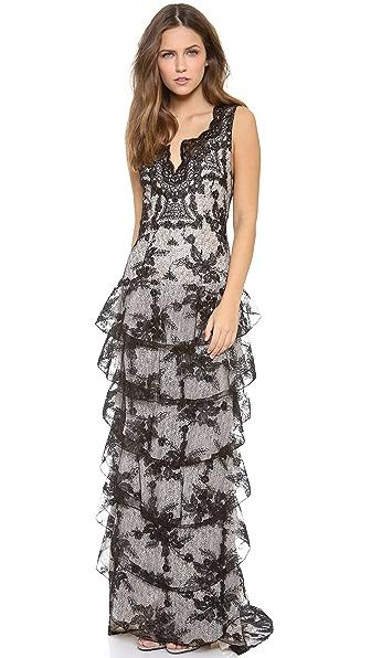 alice + olivia Powell Drop Waist Gown