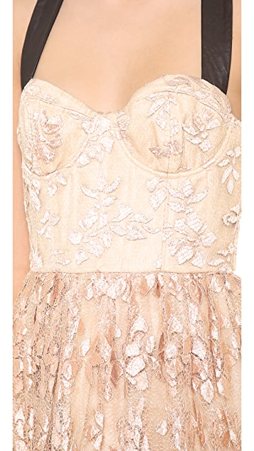 alice + olivia Chris Bustier Ball Gown