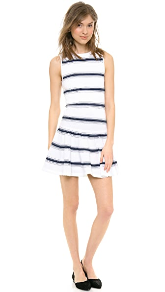 alice + olivia Barton Drop Waist Stripe Dress