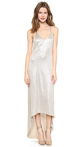 alice + olivia Lena High Low Strappy Dress