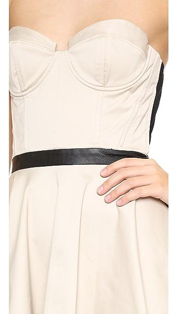 alice + olivia Simoes Strapless Bustier Mini Dress