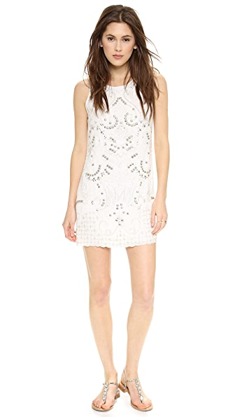 alice + olivia Jame Embellished Triangle Dress