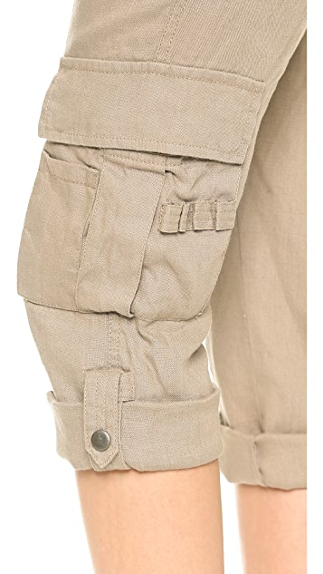 alice + olivia Narrow Rolled Cuff Cargo Pants