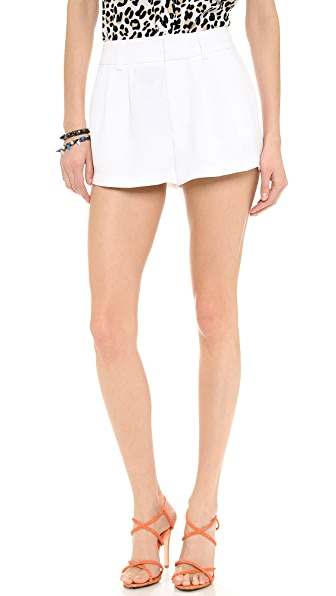 alice + olivia Pleated Flutter Shorts