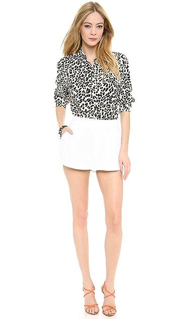 alice + olivia Pleated Flutter Shorts