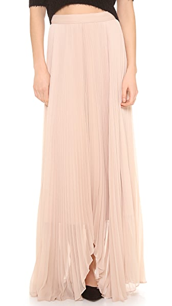 alice + olivia Norris Pleated Sunburst Maxi Skirt