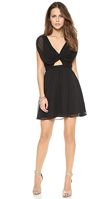 alice + olivia Lizette Knotted Front Dress