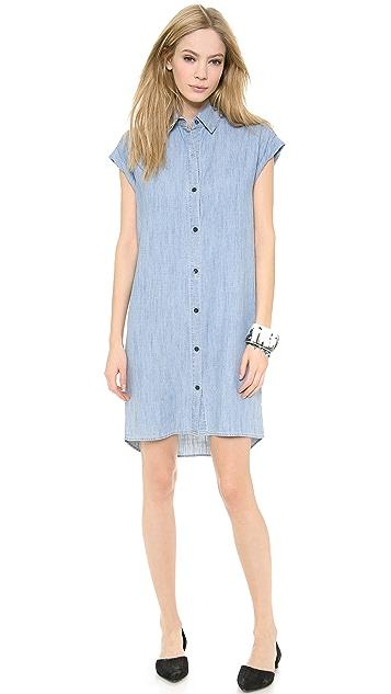 alice + olivia Loren Denim Shirt Dress