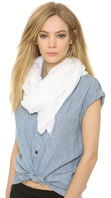 alice + olivia Crinkled Gauze Raw Edge Scarf
