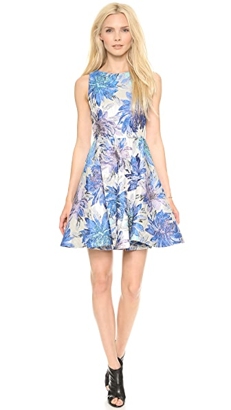 alice + olivia Foss Fitted Cutout Back Dress
