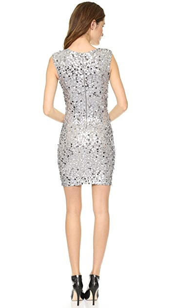 alice + olivia Low V Neck Sequin Dress