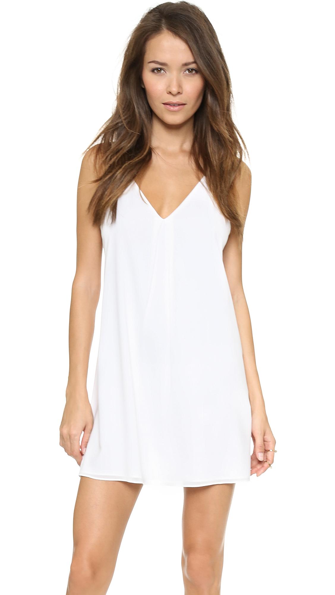 Alice + Olivia Fierra Y Back Tank Dress - White at Shopbop