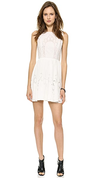 alice + olivia Vinny Embroidered Party Dress