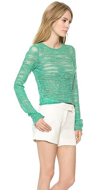 alice + olivia Fallon Cropped Sweater