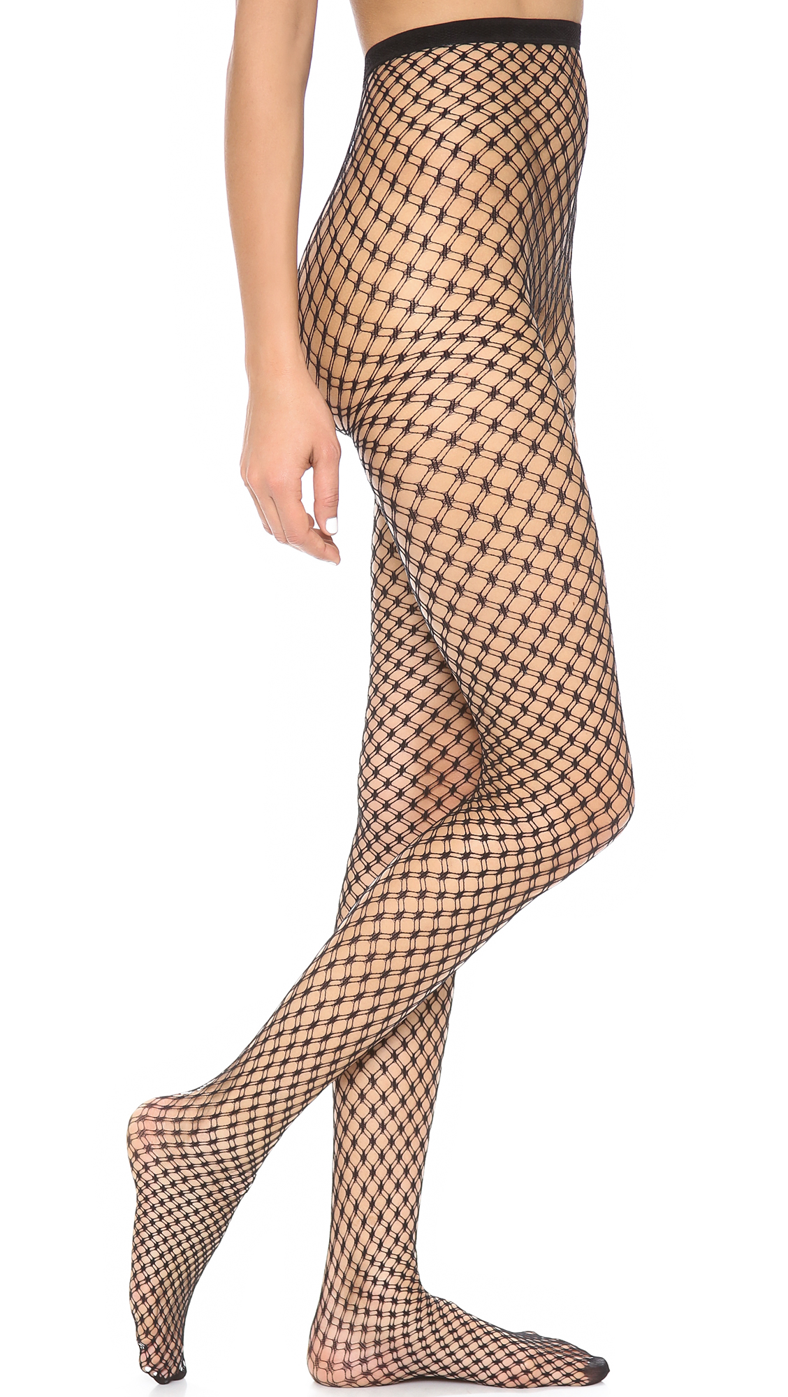 ff51cfe56d232 alice + olivia Super Lovely Double Fishnet Tights | SHOPBOP