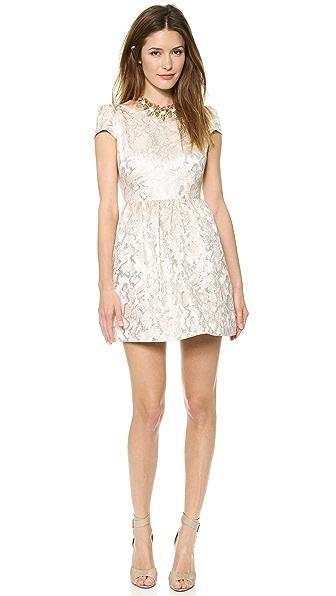 alice + olivia Nelly Puff Sleeve Dress