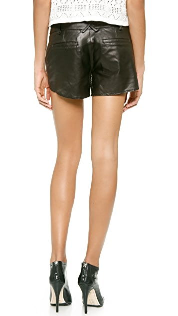 alice + olivia Leather Butterfly Shorts