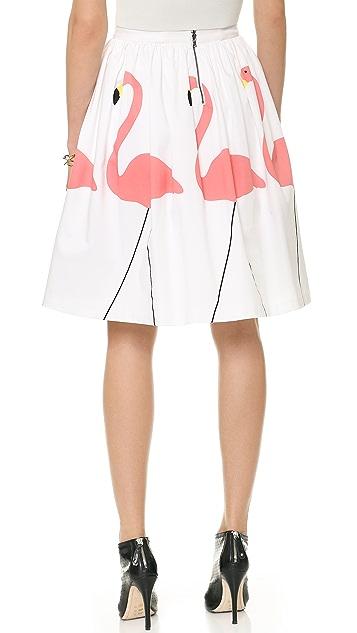 alice + olivia Hale Flamingo Puff Skirt