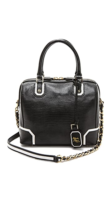 alice + olivia Olivia Embossed Satchel