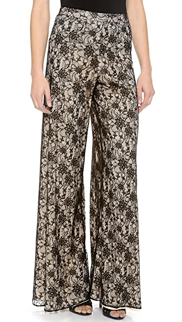 alice + olivia Lace Wide Leg Pants