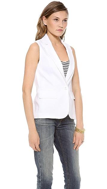 alice + olivia Lorelei Single Button Vest