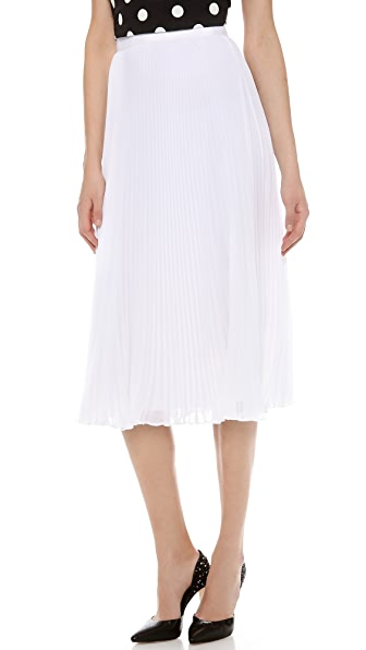 alice + olivia Pleated Midi Skirt