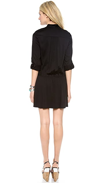 alice + olivia Yvonne Pintuck Dress