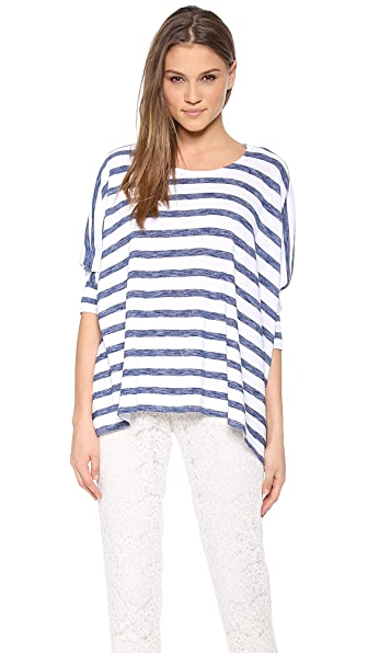 alice + olivia Pattie Stripe Tee