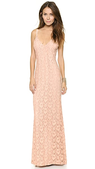 alice + olivia Laura Lace Maxi Dress
