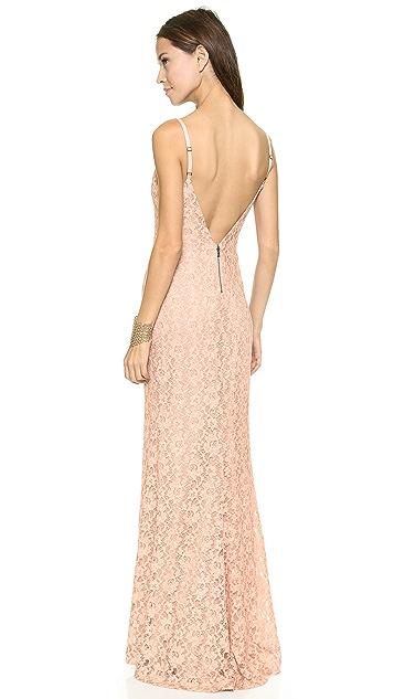 alice + olivia Laura Lace Maxi Dress