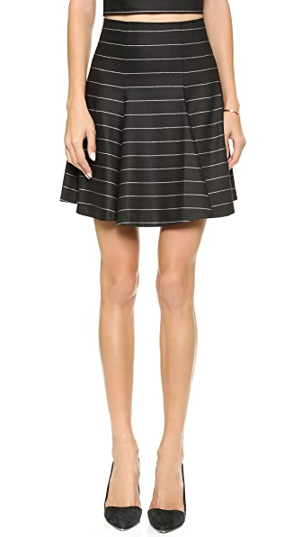 alice + olivia Pharl High Waist Fit & Flare Skirt