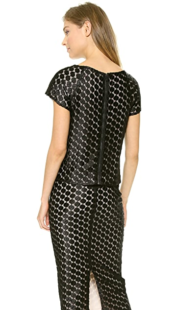 alice + olivia Connelly Embellished Top