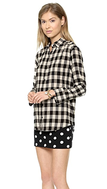 alice + olivia Piper Checked Button Down