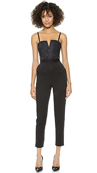 alice + olivia Structured Bustier Jumpsuit
