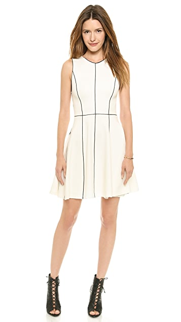 alice + olivia Seamed Fit & Flare Dress