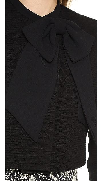 alice + olivia Bow Neck Crop Jacket