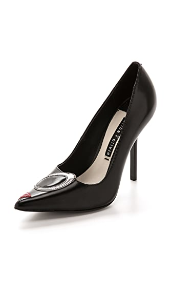 alice + olivia Josie Face Pumps