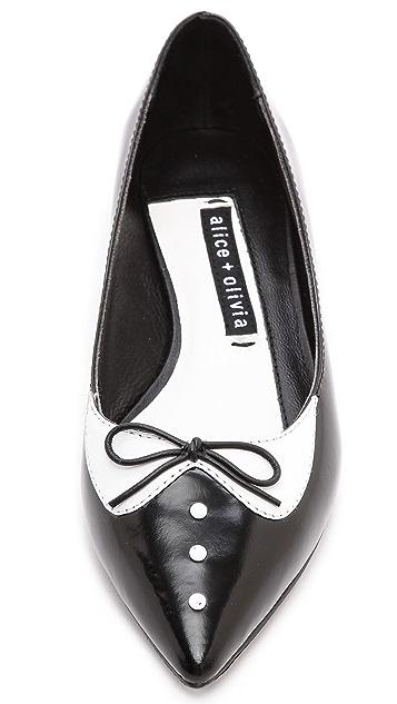 alice + olivia Liza Tuxedo Flats