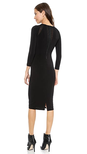 alice + olivia Maris Sheer Sunburst Dress