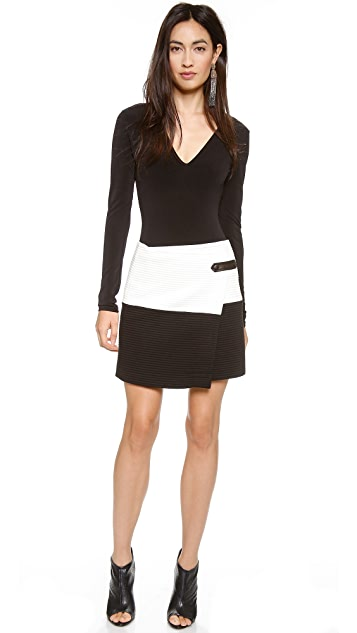 alice + olivia Lennon Crossover Angle Skirt